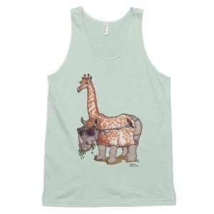 Designer classic tank top (unisex) by Janet Mann